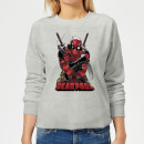 marvel-deadpool-ready-for-action-women-s-sweatshirt-grey-s-grau