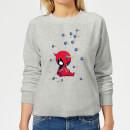 marvel-deadpool-cartoon-knockout-women-s-sweatshirt-grey-m-grau