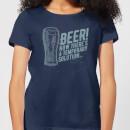 beer-temporary-solution-women-s-t-shirt-navy-l-marineblau