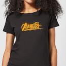 marvel-avengers-infinity-war-orange-logo-damen-t-shirt-schwarz-l-schwarz
