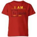 i-am-fe-male-kids-t-shirt-red-7-8-jahre-rot