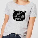 stop-stressing-meowt-women-s-t-shirt-grey-xl-grau