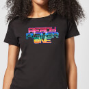 ready-player-one-rainbow-logo-damen-t-shirt-schwarz-m-schwarz
