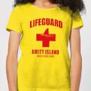 jaws-amity-island-lifeguard-women-s-t-shirt-yellow-m-gelb