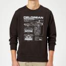 Sudadera Regreso al futuro DeLorean - Hombre - Negro - 4XL - Negro Negro XXXXL