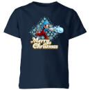 nintendo-mario-merry-christmas-snowball-kinder-t-shirt-navy-blau-3-4-jahre-marineblau