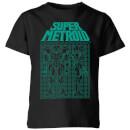 nintendo-super-metroid-power-suit-blueprint-schwarz-kinder-t-shirt-schwarz-3-4-jahre-schwarz
