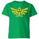 nintendo-the-legend-of-zelda-hyrule-kinder-t-shirt-grun-7-8-jahre-kelly-green