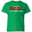 nintendo-the-legend-of-zelda-retro-logo-kinder-t-shirt-grun-3-4-jahre-kelly-green