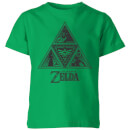 nintendo-the-legend-of-zelda-triforce-kinder-t-shirt-grun-7-8-jahre-kelly-green