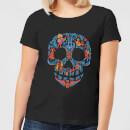 coco-skull-pattern-damen-t-shirt-schwarz-5xl-schwarz