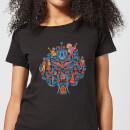 coco-tree-pattern-damen-t-shirt-schwarz-5xl-schwarz