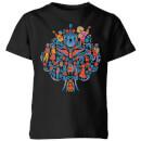 coco-tree-pattern-kids-t-shirt-black-3-4-years-schwarz