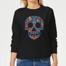 coco-skull-pattern-damen-pullover-schwarz-5xl-schwarz