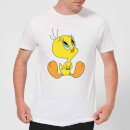looney-tunes-tweety-sitting-herren-t-shirt-wei-3xl-wei-