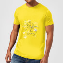 looney-tunes-tweety-pie-more-puddy-tats-herren-t-shirt-gelb-s-gelb