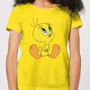 looney-tunes-tweety-sitting-damen-t-shirt-gelb-m-gelb