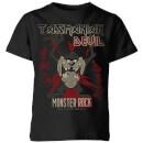 looney-tunes-taz-monster-rock-kinder-t-shirt-schwarz-3-4-jahre-schwarz