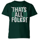 looney-tunes-that-s-all-folks-kinder-t-shirt-dunkelgrun-11-12-jahre-forest-green