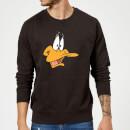 looney-tunes-daffy-duck-gesicht-pullover-schwarz-5xl-schwarz