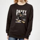 looney-tunes-daffy-concert-damen-pullover-schwarz-3xl-schwarz