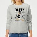 looney-tunes-daffy-concert-damen-pullover-grau-3xl-grau