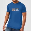 familie-feuerstein-family-car-distressed-herren-t-shirt-royal-blau-s-royal-blue