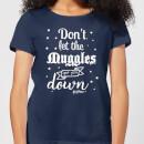 harry-potter-don-t-let-the-muggles-get-you-down-damen-t-shirt-navy-blau-s-marineblau