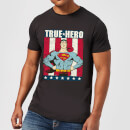 dc-originals-superman-true-hero-herren-t-shirt-schwarz-xl-schwarz