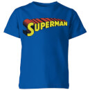 dc-superman-telescopic-crackle-logo-kinder-t-shirt-royal-blau-9-10-jahre-royal-blue