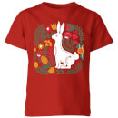 my-little-rascal-scandi-rabbit-pattern-kids-t-shirt-red-11-12-jahre-rot
