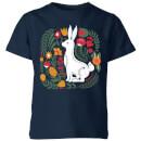 my-little-rascal-scandi-rabbit-pattern-kids-t-shirt-navy-5-6-jahre-marineblau