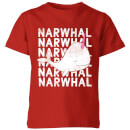 my-little-rascal-narwhal-kids-t-shirt-red-5-6-jahre-rot
