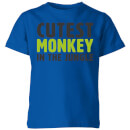 my-little-rascal-cutest-monkey-in-the-jungle-kids-t-shirt-royal-blue-3-4-jahre-royal-blue