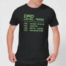 dad-level-up-men-s-t-shirt-black-s-schwarz