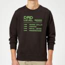 dad-level-up-sweatshirt-black-s-schwarz