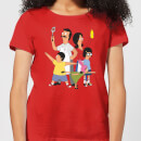 bobs-burgers-family-pose-women-s-t-shirt-red-xl-rot