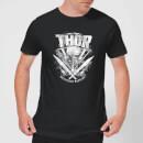 marvel-thor-ragnarok-thor-hammer-logo-herren-t-shirt-schwarz-xxl-schwarz