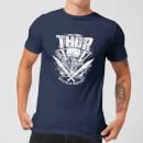 marvel-thor-ragnarok-thor-hammer-logo-herren-t-shirt-navy-blau-xxl-marineblau
