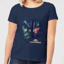 marvel-thor-ragnarok-hulk-split-face-damen-t-shirt-navy-blau-s-marineblau