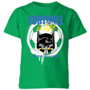 dc-batman-football-is-life-kinder-t-shirt-grun-9-10-jahre-kelly-green