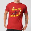 marvel-deadpool-suns-out-guns-out-herren-t-shirt-rot-xxl-rot