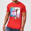 marvel-deadpool-unicorn-battle-herren-t-shirt-rot-xxl-rot