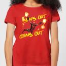 marvel-deadpool-suns-out-guns-out-damen-t-shirt-rot-xxl-rot