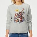 marvel-deadpool-merchandise-royalties-damen-pullover-grau-s-grau