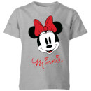 disney-minnie-face-kids-t-shirt-grey-11-12-jahre-grau