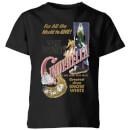 disney-disney-princess-cinderella-retro-poster-kinder-t-shirt-schwarz-7-8-jahre-schwarz