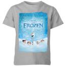 die-eiskonigin-snow-poster-kinder-t-shirt-grau-3-4-jahre-grau