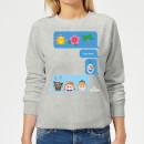 die-eiskonigin-i-love-heat-emoji-damen-pullover-grau-5xl-grau