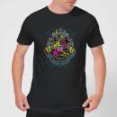 harry-potter-neon-hogwarts-crest-herren-t-shirt-schwarz-s-schwarz